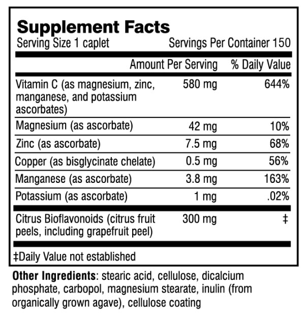 Adrenal C supplement facts